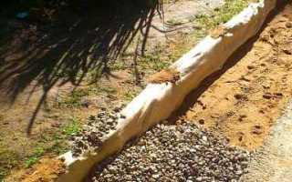 Подушка под ленточный фундамент: толщина, ширина, выполнение работ