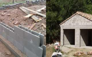 Фундамент для гаража из шлакоблоков: строим своими руками