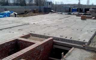 Фундамент из плит перекрытия для дома: технология укладки