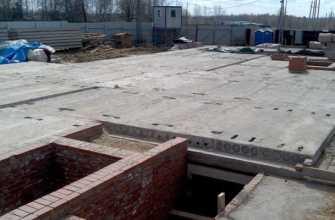 Укладка плит перекрытия на фундамент: этапы проведения работ