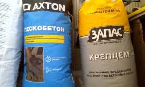 Пескобетон Axton: строительная смесь для изготовления бетона