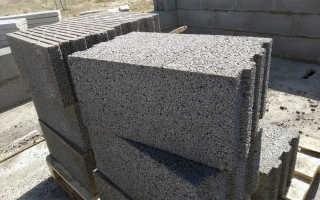 Размер керамзитобетонного блока: стандартный, согласно ГОСТ