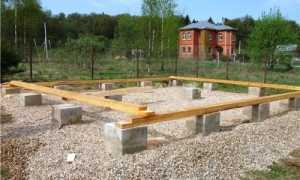 Столбчатый фундамент своими руками для каркасного дома: этапы выполнения работ
