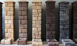 Бетонные блоки для забора: декоративные блоки и столбы