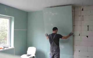 Как крепить гипсокартон к пеноблоку: внутренняя отделка стен