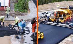 Асфальт для тротуаров: конструкция, устройство, процесс асфальтирования