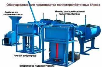 Оборудование для полистиролбетона: технология, производство