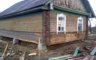Как подвести фундамент под старый деревянный дом: своими руками