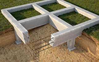 Монолитно-столбчатый фундамент: применение, устройство, строительство