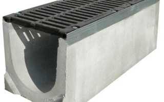Дорожный лоток водоотводный бетонный: разновидности и основные типоразмеры