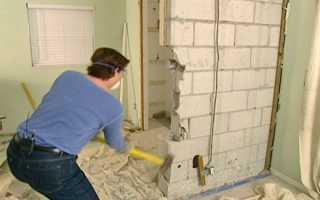 Демонтаж перегородок из пеноблоков: особенности выполнения работ