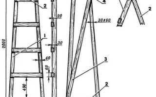 Деревянная стремянка: секреты изготовления надежной конструкции своими руками