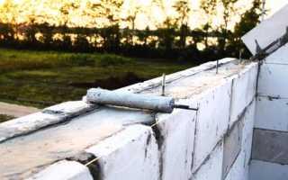 Армирование пеноблоков: кладки, стен, установка армопояса
