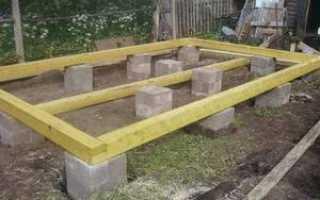 Опорно-столбчатый фундамент: плюсы и минусы, строительство своими руками