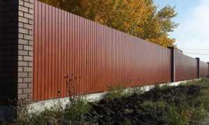 Забор из профнастила на ленточном фундаменте: как построить, глубина, размеры