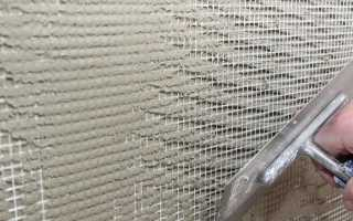 Армировка стен при заливке полистиролбетоном: клей, сетка